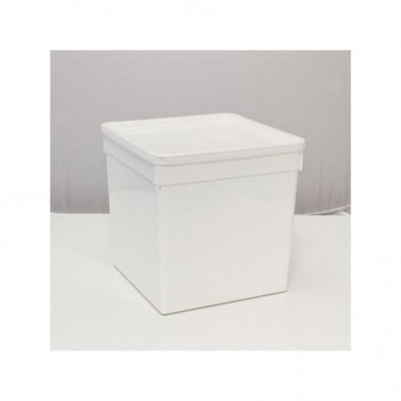 Braplast 5.8 litres carré blanc