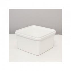 Braplast 3 litres carré blanc