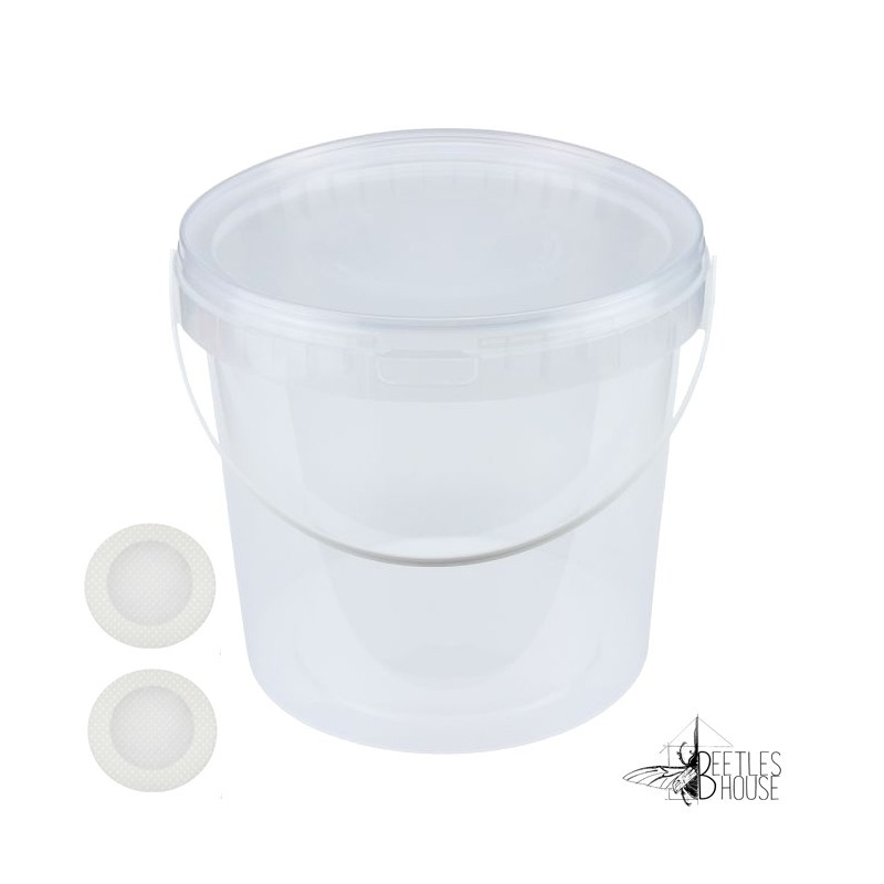 10 800 ml (seau) pot pet avec filtre stop moucheron